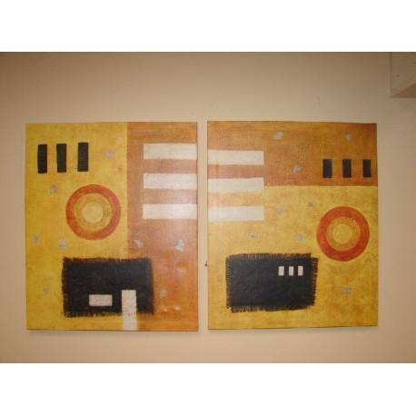 Pareja de cuadros Abstractos