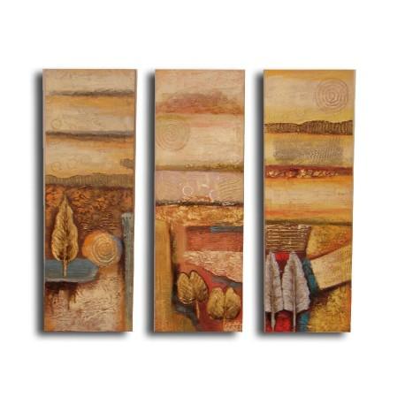 Triptico 3 cuadros Paisajes